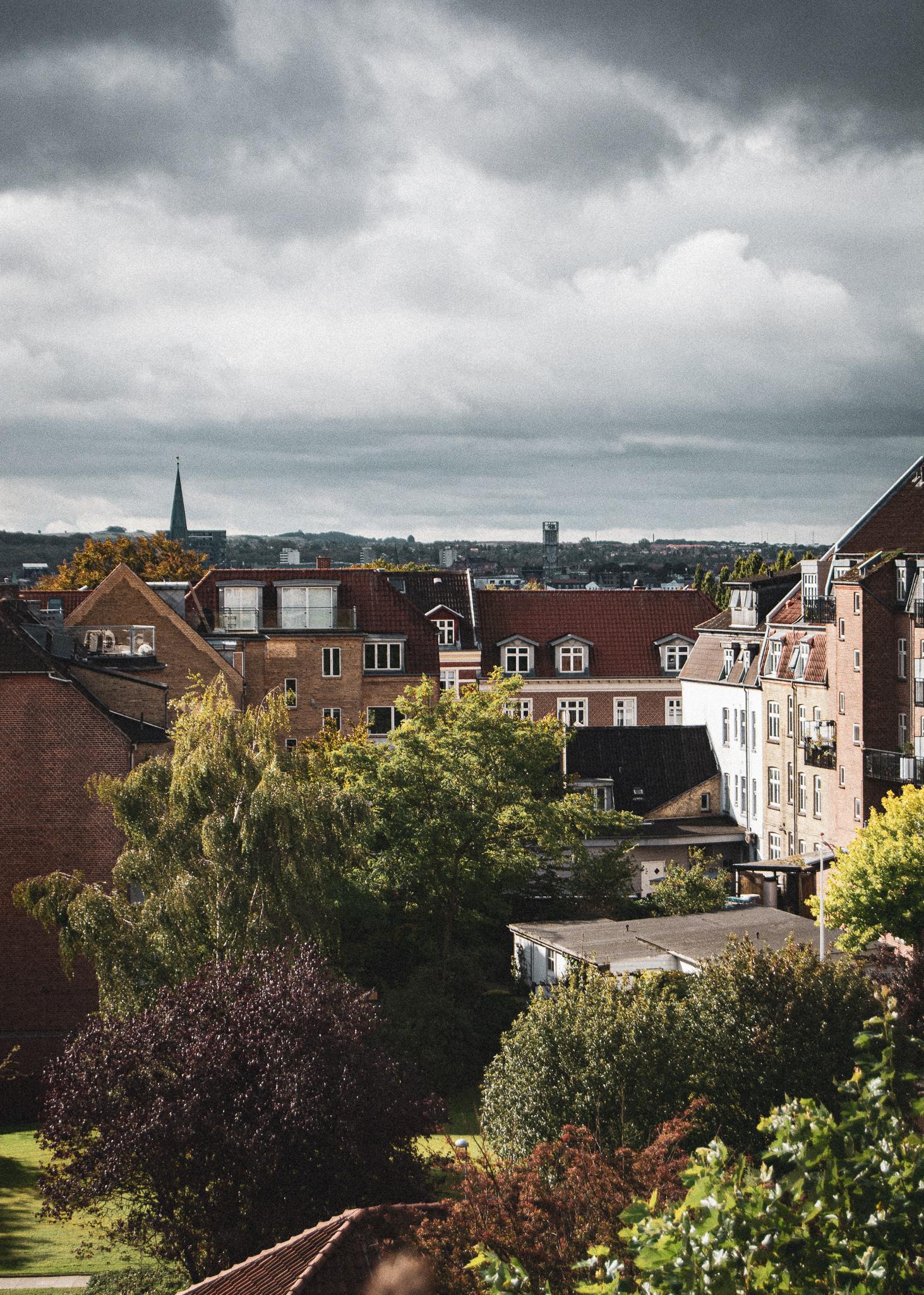 view, city, houses, backyard, aarhus, udsigts, by, huse, baggård, århus