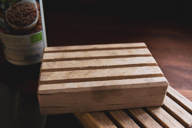 wooden soap dish, sæbeskål i træ