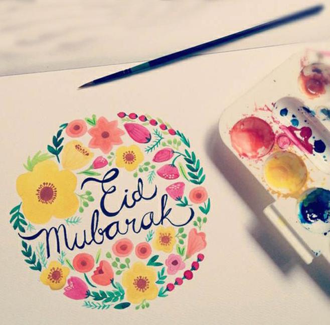 beautiful-eid-mubarak-made-of-water-colors