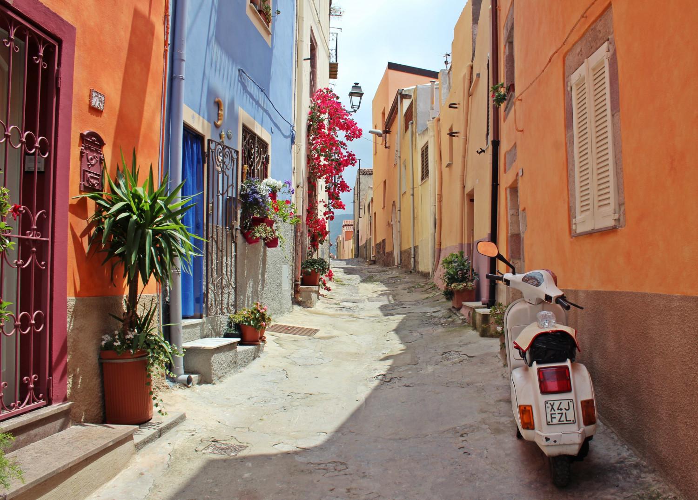 Billede af en by i Italien.