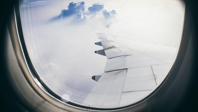 Billede af en rejse med fly.