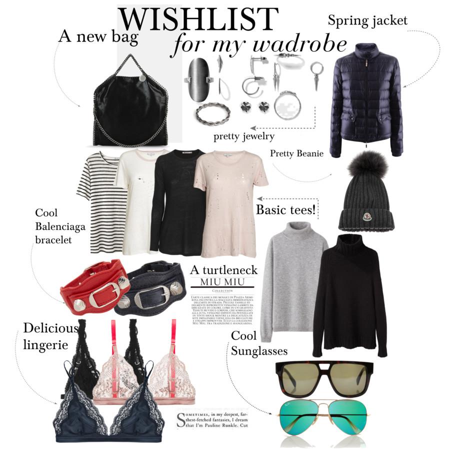 wishlist for wardrobe