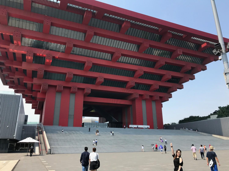 Museets imponerende yderside