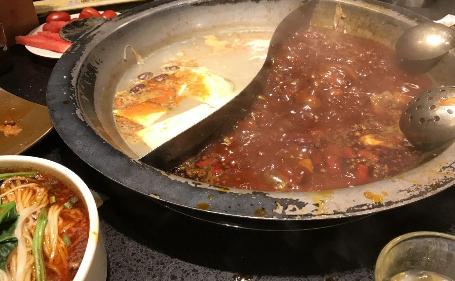 Hotpot fra Sichuan-regionen. Meget spicy.