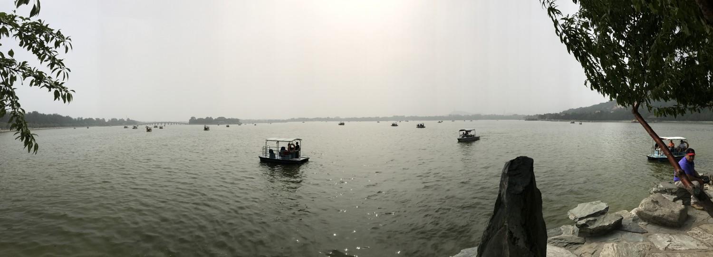 Selvom det var meget uklart grundet forurening var det et smukt syn