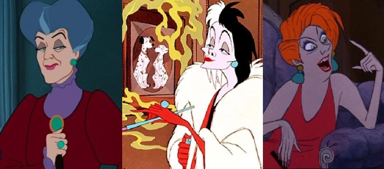 Askepots stedmoder, Cruella de Vil og Medusa fra Bernard & Bianca