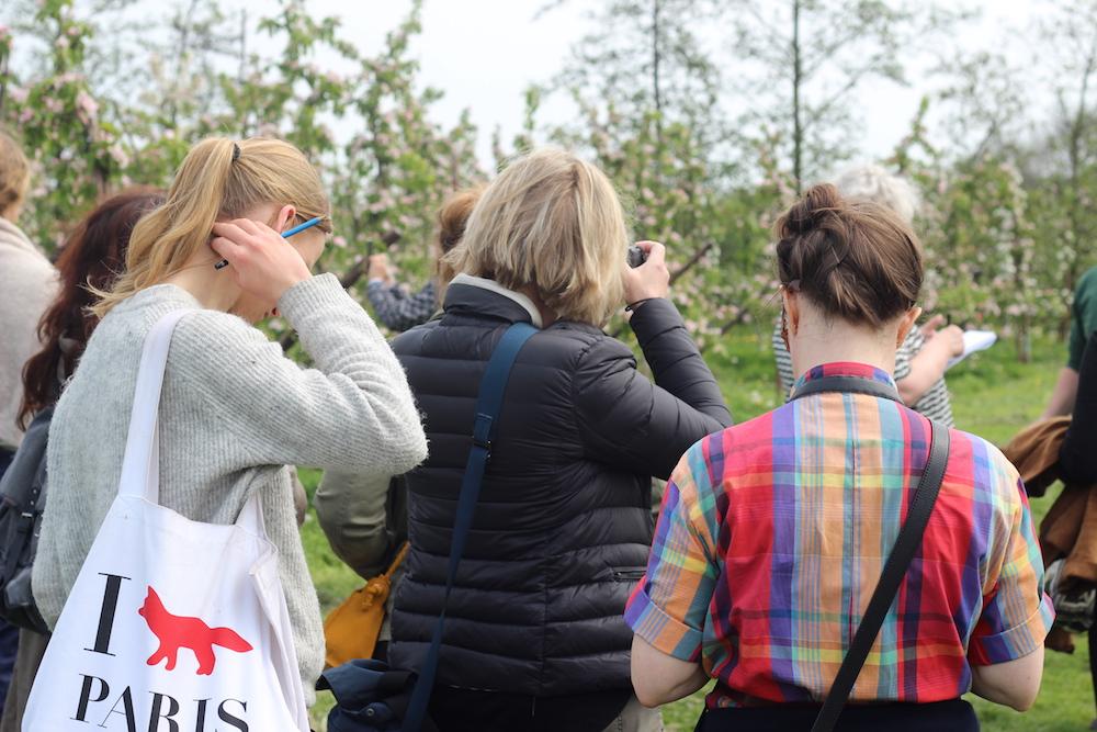 Planteavler i plantagen med tilhørerer