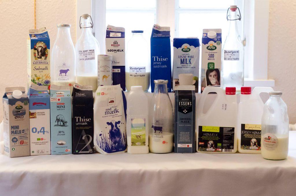 Det store udvalg til dagens mælkesmagning