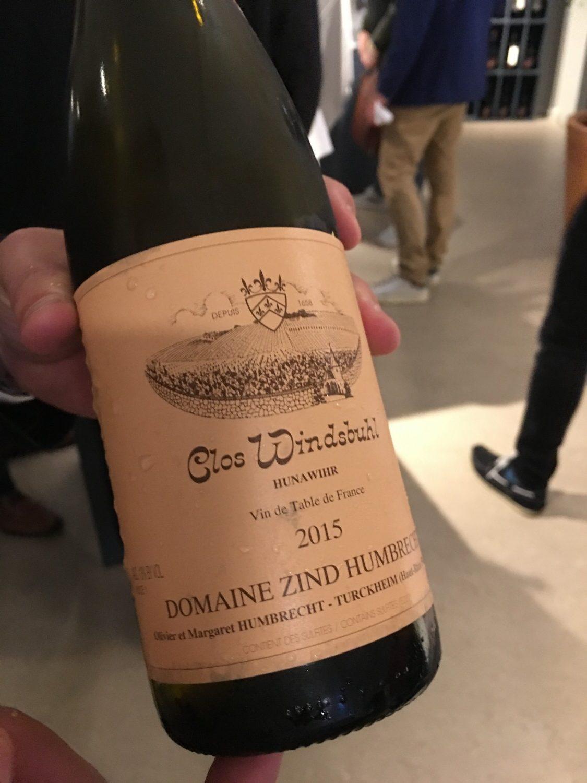 ... og så lykkedes det mig langt at længe at få smagt på noget Zind Humbrecht. Virkelig lækker vin!