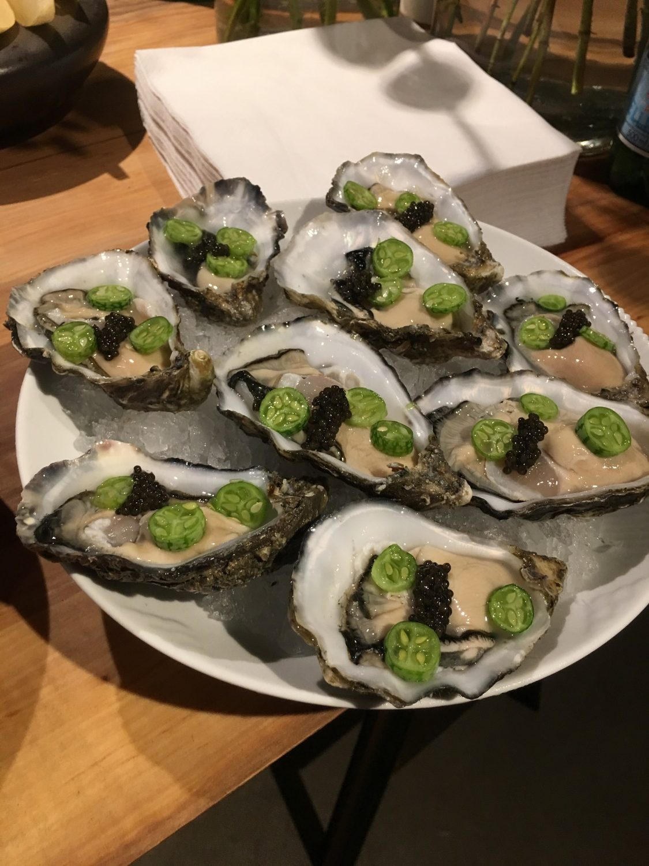 Lækre østers med caviar
