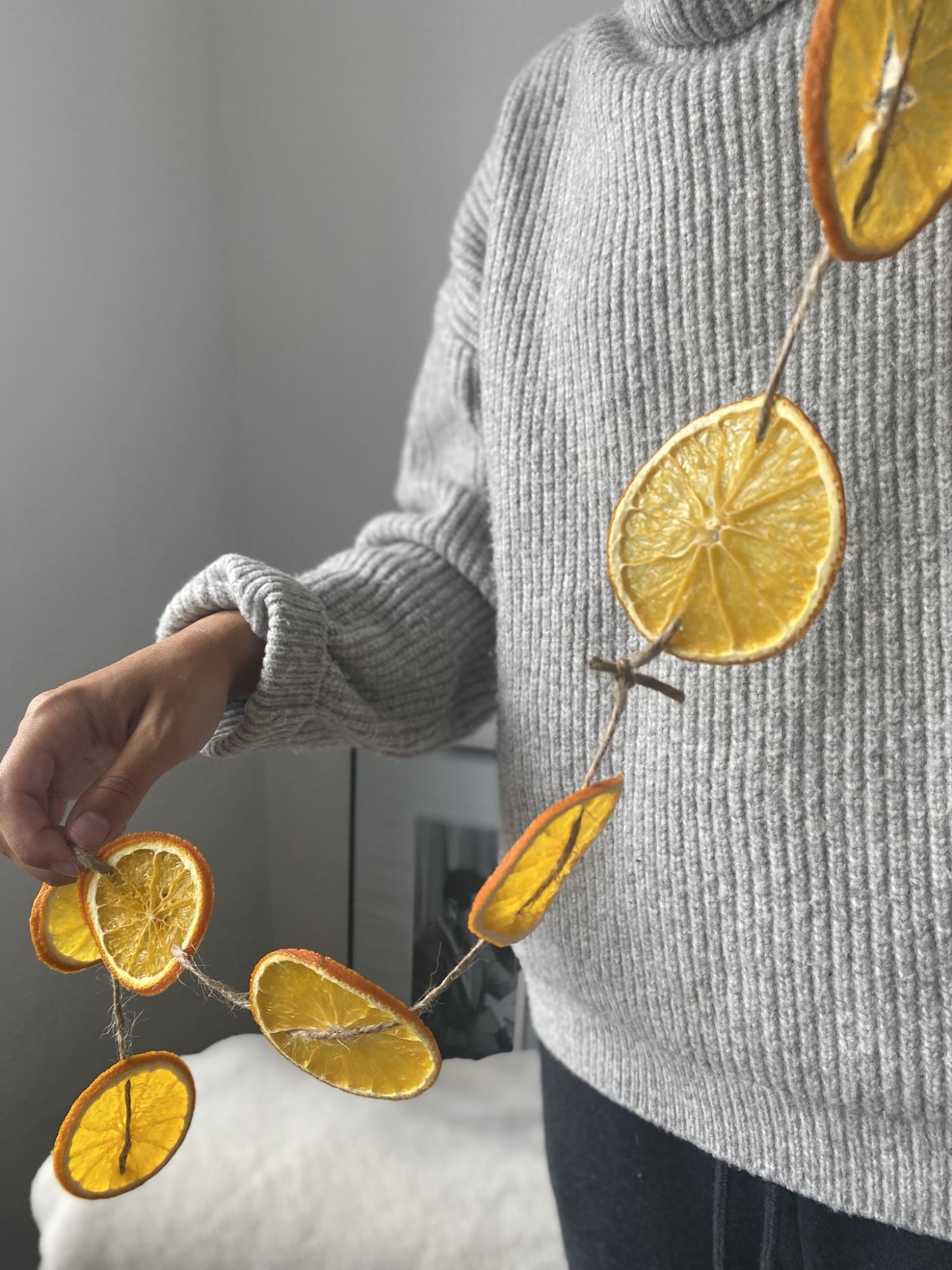 Julehygge - Guirlande - Tørrede appelsiner
