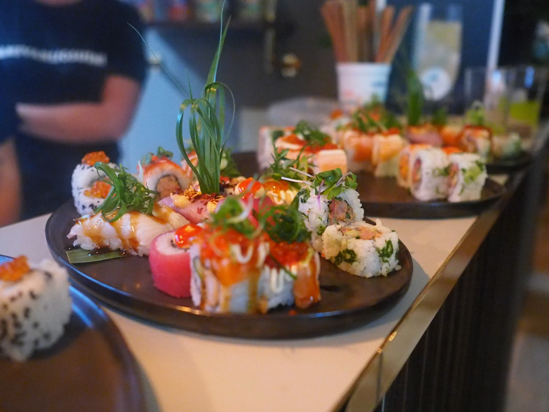 Diverse maki hos Letz Sushi.