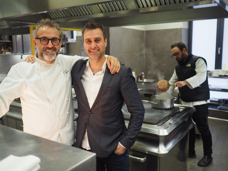 Massimo Bottura and food journalist Niklas Roar.