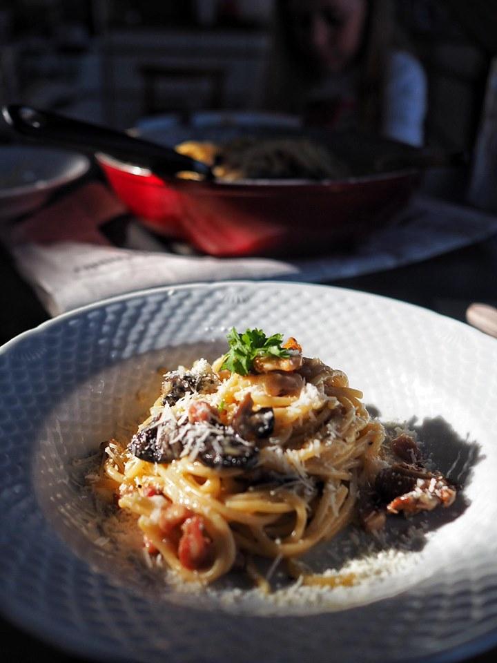 Spaghetti med kantareller