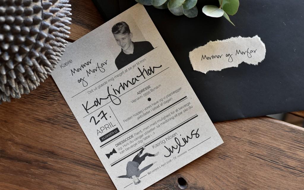 konfirmation invitation