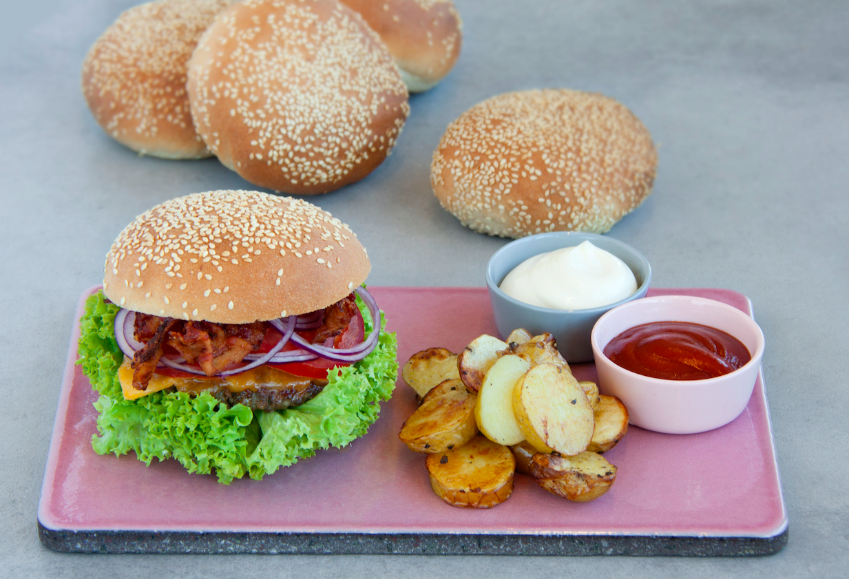 Hjemmelavede burgerboller