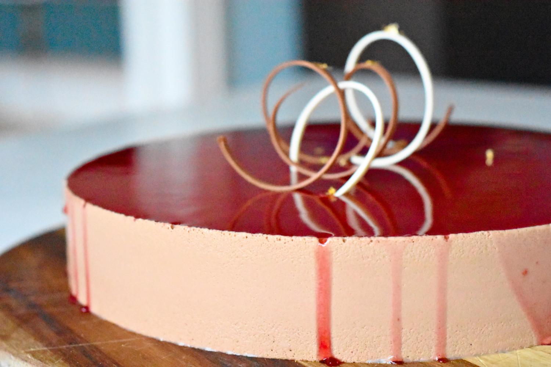 kage med chokolademousse og lime blank gele