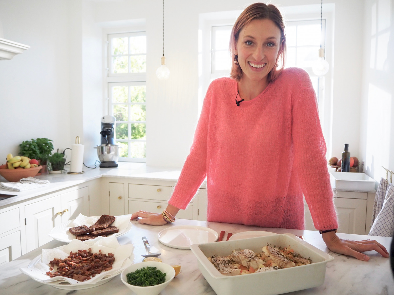 Annemette Voss torsk med bacon