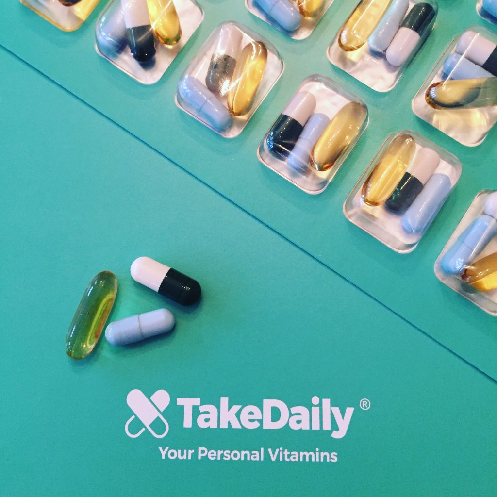 Pæn TakeDaily-æske med vitaminpiller