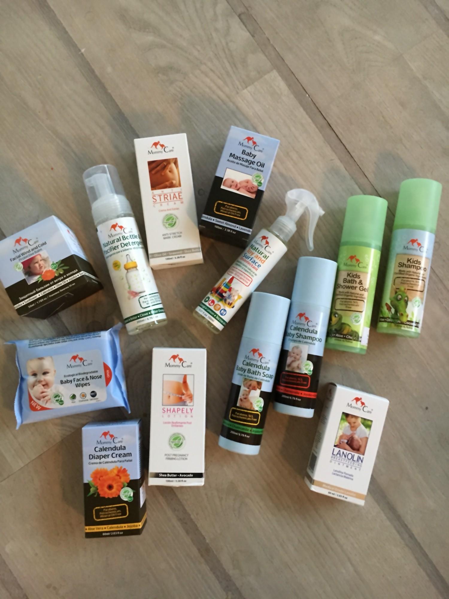 En masse super lækre produkter fra Mommy Care