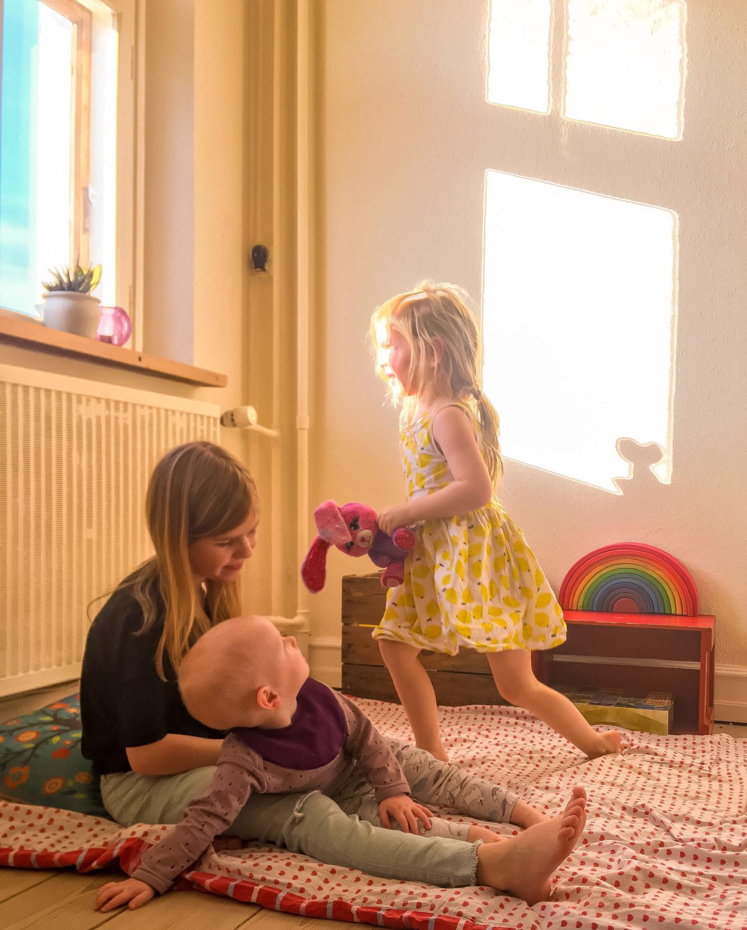 deleværelse eget værelse søskende børn samsovning legeværelse