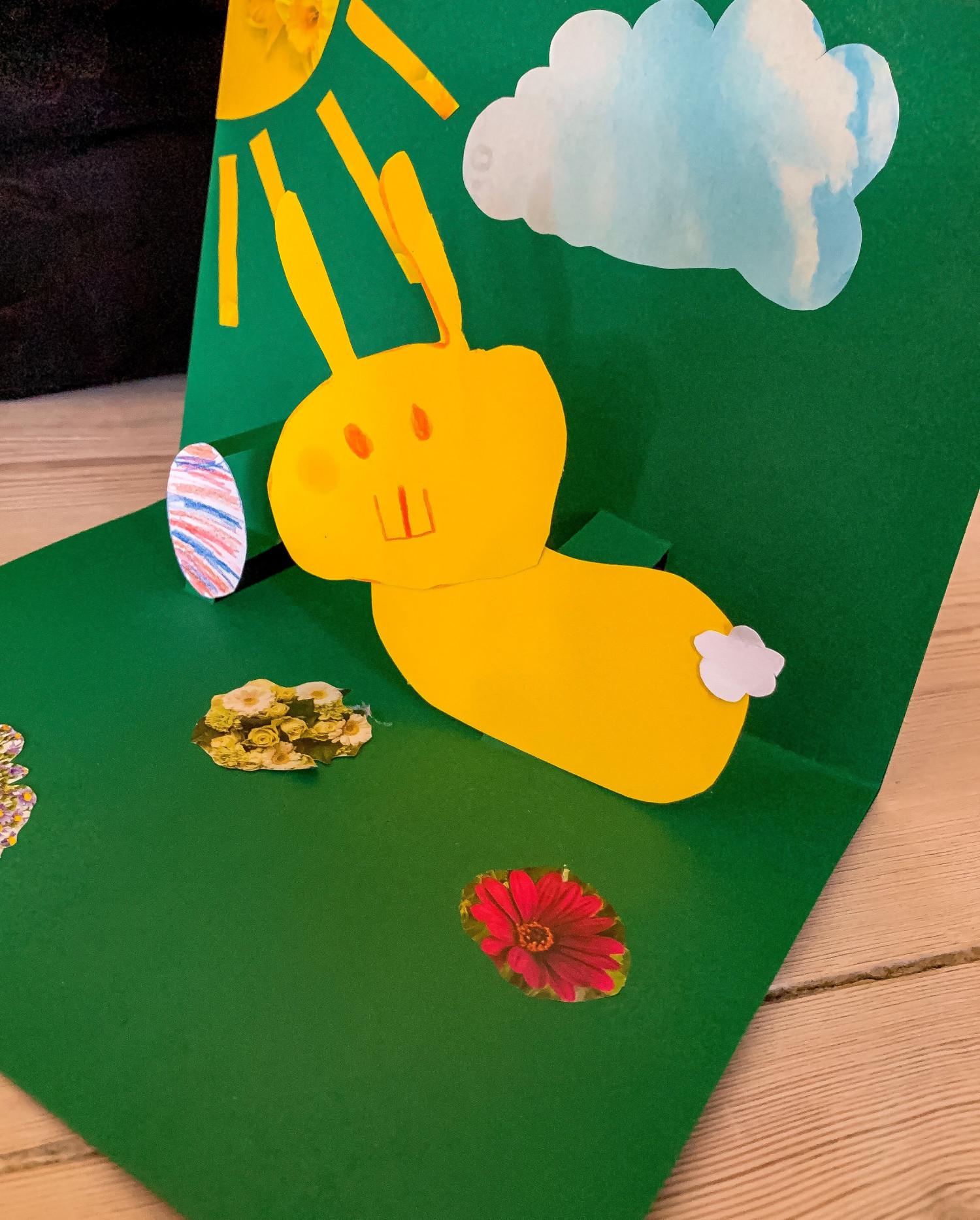 pop-op kort børn påske krea idé
