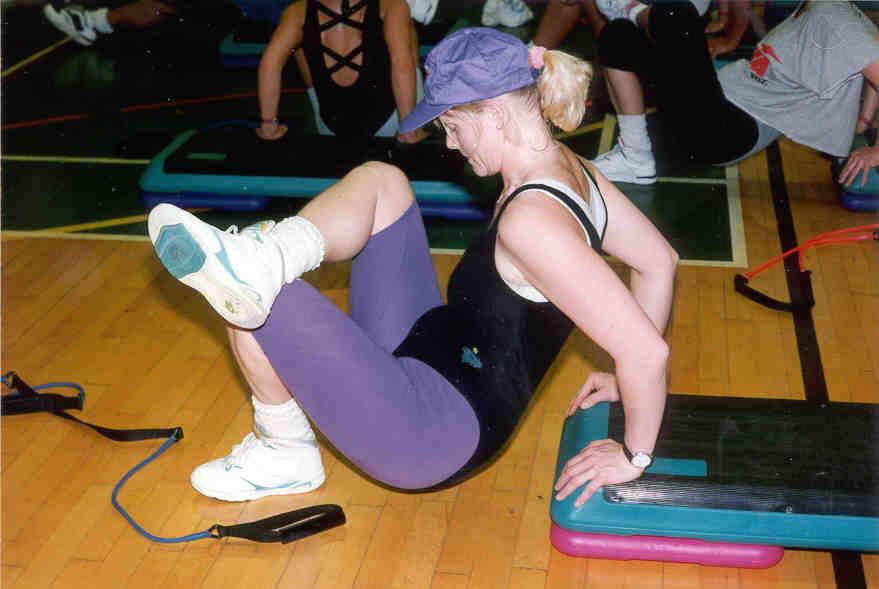 Armtræning triceps step dips