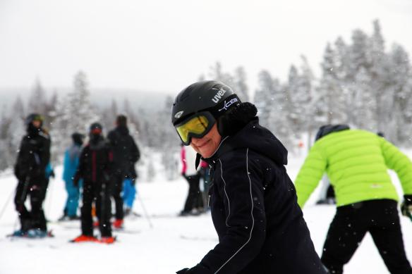 Stöten i Sälen en blogger på vej på ski