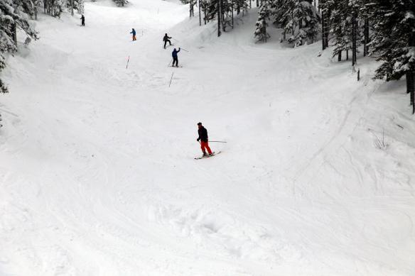 Stöten sne og skiløb