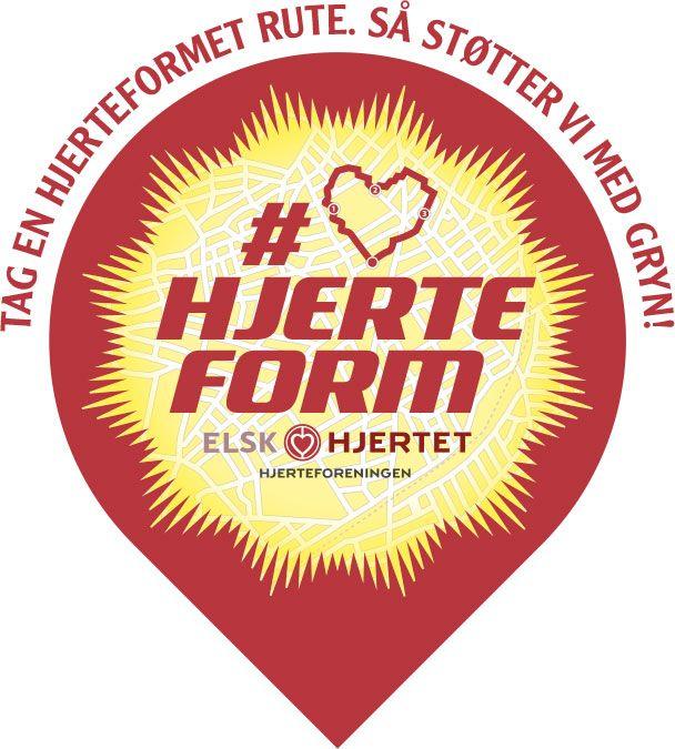 Hjerteform Motionsrute Solgryn Hjerteforeningen