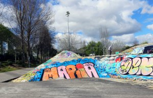 Lisboa skater park graffiti