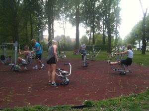 Udendørs fitness maskiner Aalborg