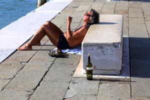 Venedig afslapning på strandpromenaden vin Marina Aagaard fitness blog