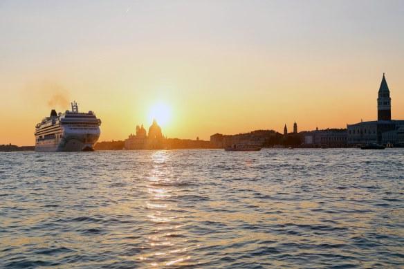 Venedig og krydstogtskib udsejling foto Marina Aagaard fitness blog