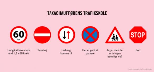 Truth facts taxachauffør regler