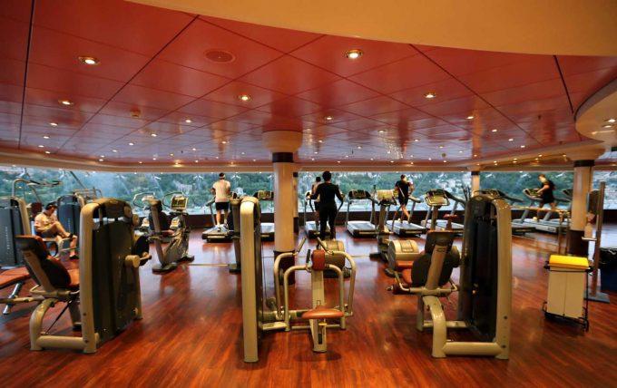 I form på krydstogt cruise fitness motion på rejse Marina Aagaard blog travel