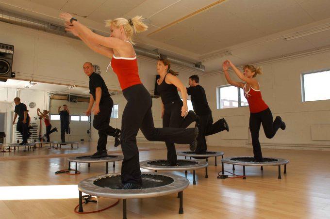 Rebounding AeroJump fitness jumping