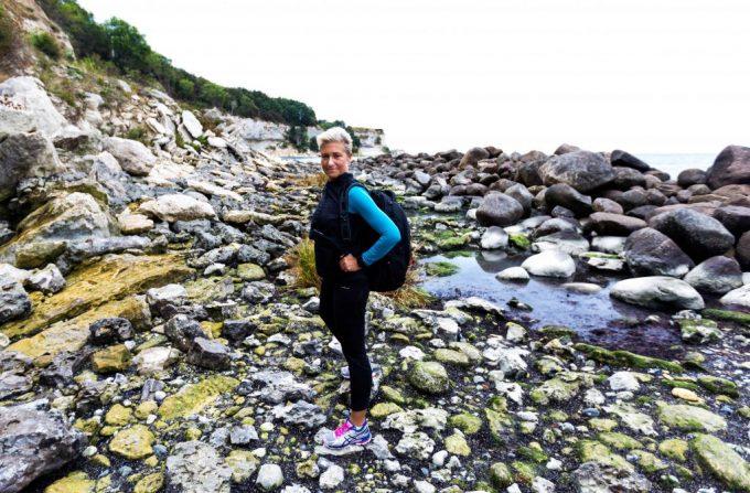 Tæl skridt på job Gang vandring Stevns Klint Marina Aagaard blog fitness