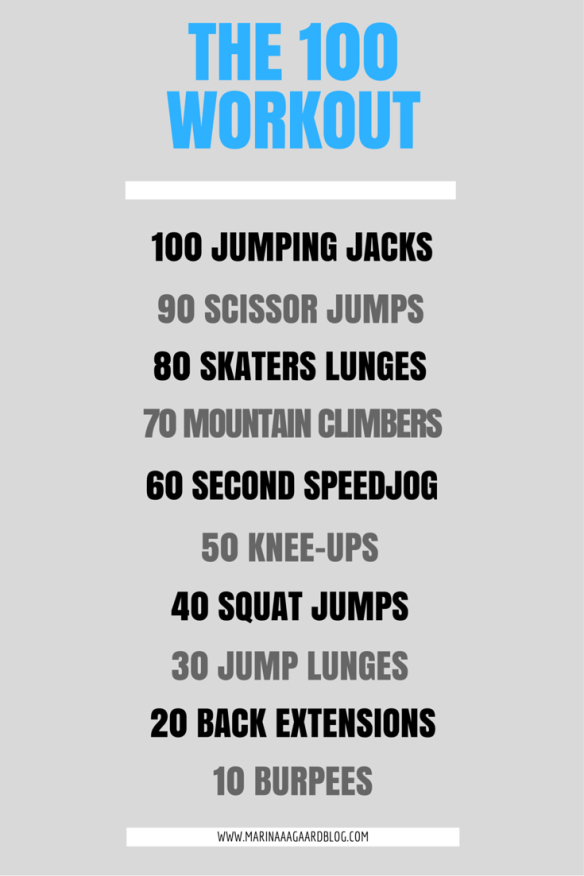 100 workout special Marina Aagaard blog fitness