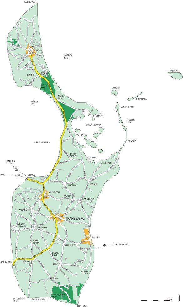 Samsø kort til download