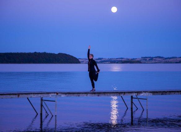T-balance med lårstræk Marina Aagaard blog fitness
