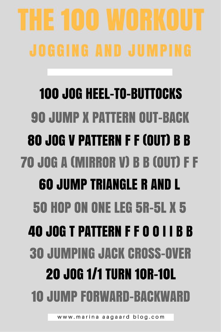 100  workout jog and jump agility circuit Marina Aagaard blog fitness