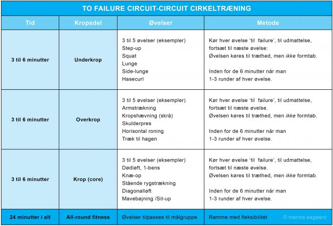 To Failure Circuit Cirkeltræning Marina Aagaard fitness blog