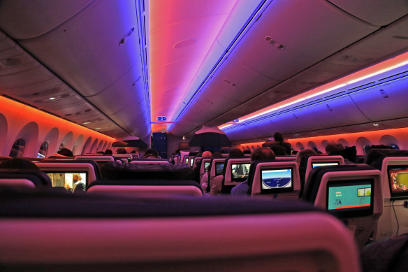 Jetlag KLM Dreamliner kabine Marina Aagaard blog travel foto
