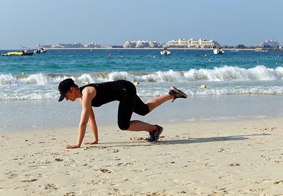 Bear crawl core training mobility strength Marina Aagaard blog fitness