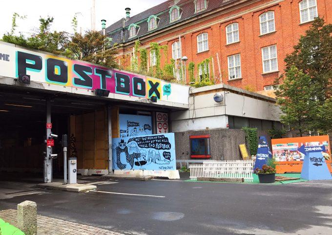 Postbox streetart Postgrunden Marina Aagaard blog travel rejse