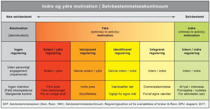 Ydre og indre motivation selvbestemmelses kontinuum Marina Aagaard blog