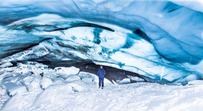 Ice cave Whistler Blackcomb Marina Aagaard blog travel