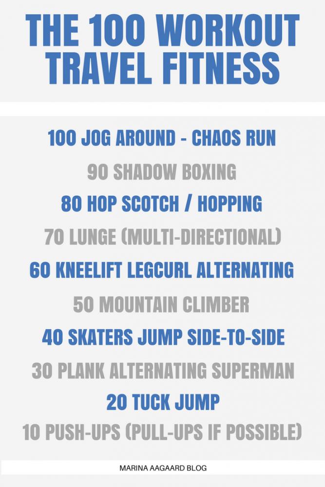 100 Workout rejse fitness Marina Aagaard blog