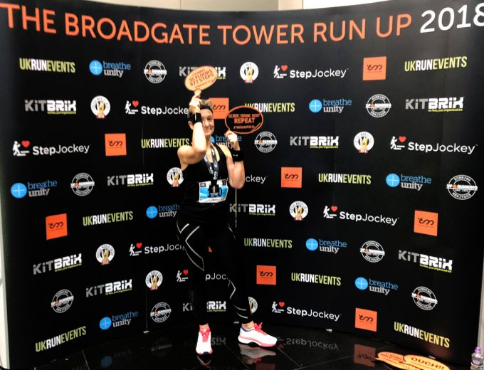 Broadgate Tower Run Up Marina Aagaard blog fitness